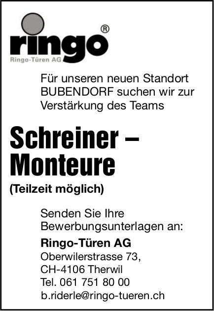 Schreiner – Monteure, Ringo-Türen AG, Therwil, gesucht