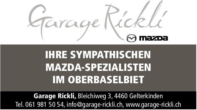Garage Rickli, Gelterkinden - Ihre sympathischen Mazda-Spezialisten