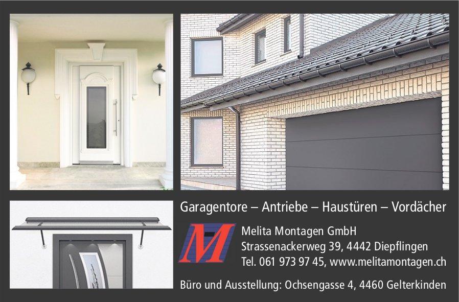 Melita Montagen GmbH, Diepflingen - Garagentore – Antriebe – Haustüren – Vordächer