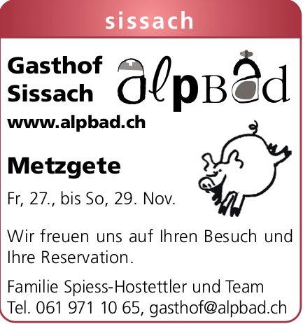 Gasthof Alpbad Sisssach - Metzgete
