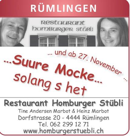 Restaurant Homburger Stübli, Rümlingen