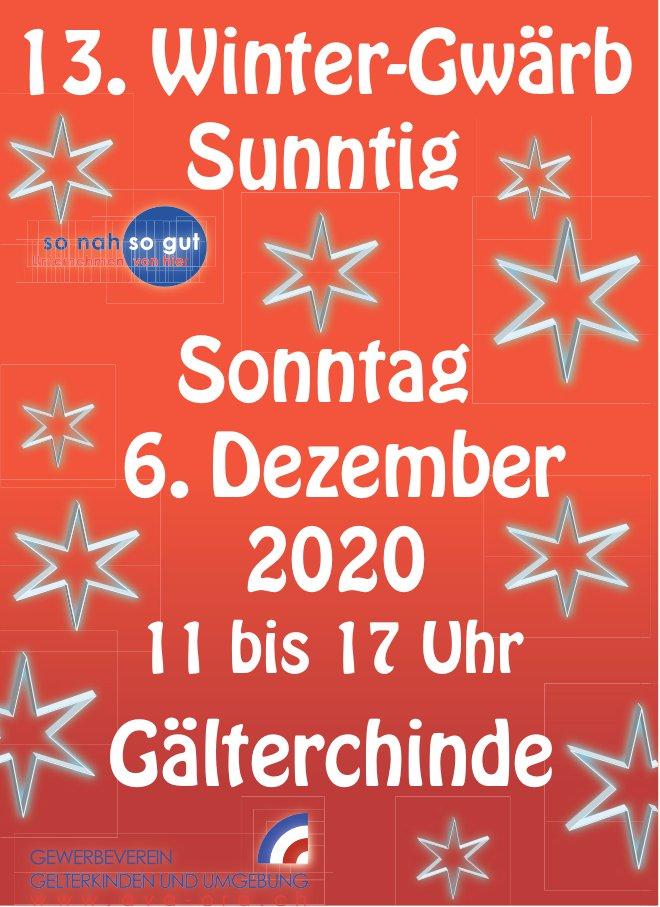 13. Winter-Gwärb Sunntig am 6. Dezember