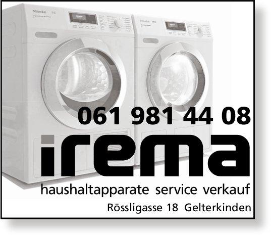 Irema,  Gelterkinden - Haushaltapparate Service Verkauf
