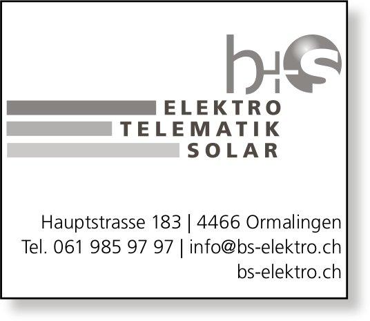 B + S Elektro,  Telematik,  Solar,  Ormalingen