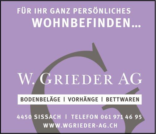 W. Grieder AG, Sissach - Für Ihr ganz persönliches Wohnbefinden...