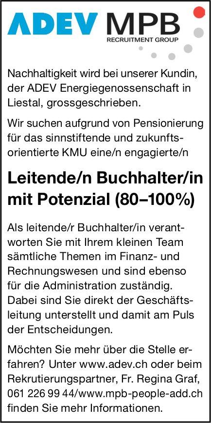 Leitende/n Buchhalter/in mit Potenzial (80–100%), ADEV MPB, Liestal, gesucht