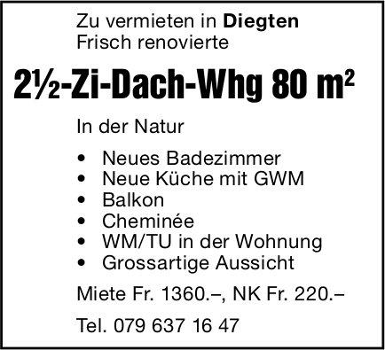 2.5-Zi-Dach-Whg 80 m, Diegten, zu vermieten