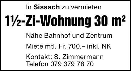1.5-Zi-Wohnung 30 m2, Sissach, zu vermieten