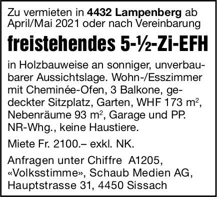 5.5-Zi-EFH, Lampenberg, zu vermieten