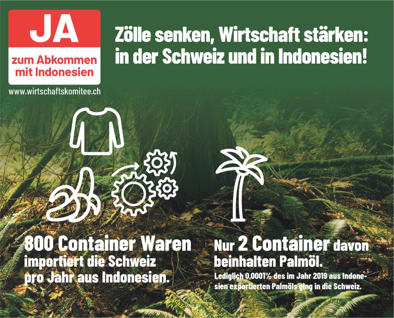 Wirtschaftskomitee Baselland - Ja zum Abkommen mit Indonesien