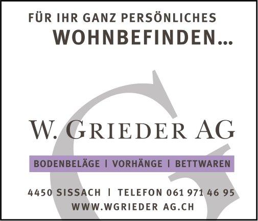 W. Grieder AG, Sissach - Bodenbeläge, Vorhänge,  Bettwaren