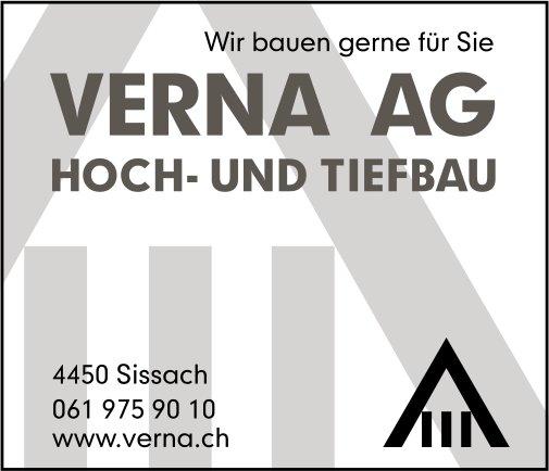 Verna AG, Hoch- und Tiefbau, Sissach - Wir bauen gerne für Sie