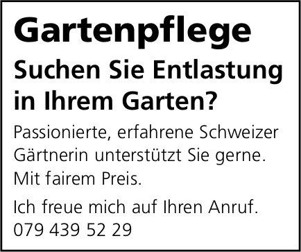 Gartenpflege, sucht