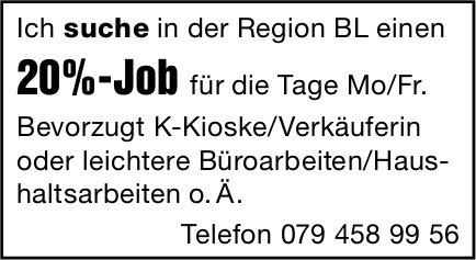 Ich suche 20%-Job