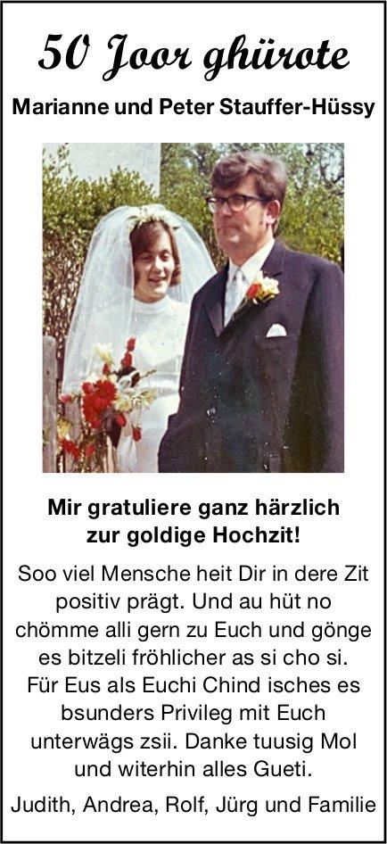 50 Joor ghürote - Marianne und Peter Stauffer-Hüssy