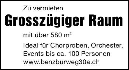 Grosszügiger Raum 580m2, zu vermieten