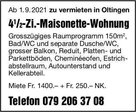 4.5-Zi.-Maisonette-Wohnung, Oltingen, zu vermieten