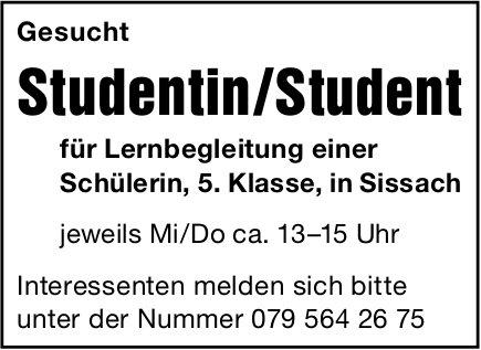 Studentin /Student für Lernbegleitung, Sissach, gesucht