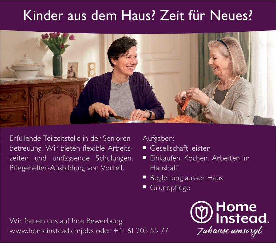 Teilzeit Seniorenbetreuung, Home Instead, gesucht