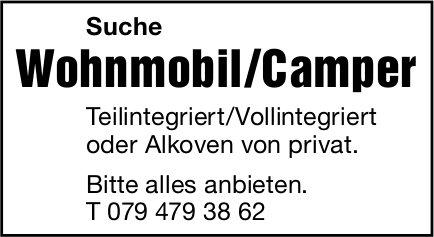 Wohnmobil/Camper, gesucht