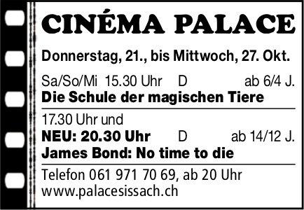 Cinéma Palace, Sissach - Programm