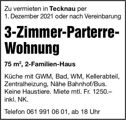3-Zimmer-Parterre-Wohnung, Tecknau, zu vermieten
