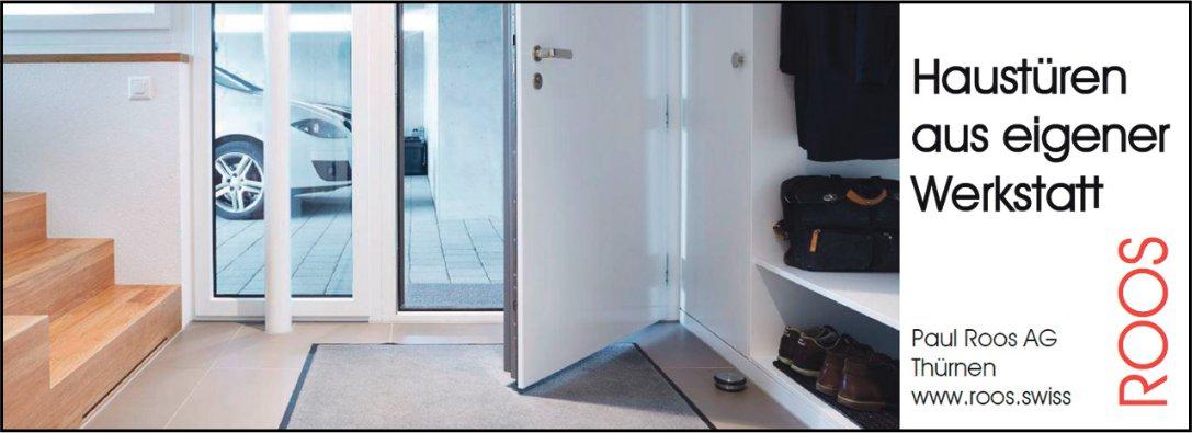 Paul Roos AG, Thürnen - Haustüren aus eigener Werkstatt