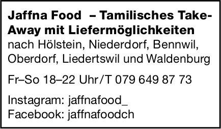 Jaffna Food, Tamilisches Take- Away mit Liefermöglichkeiten