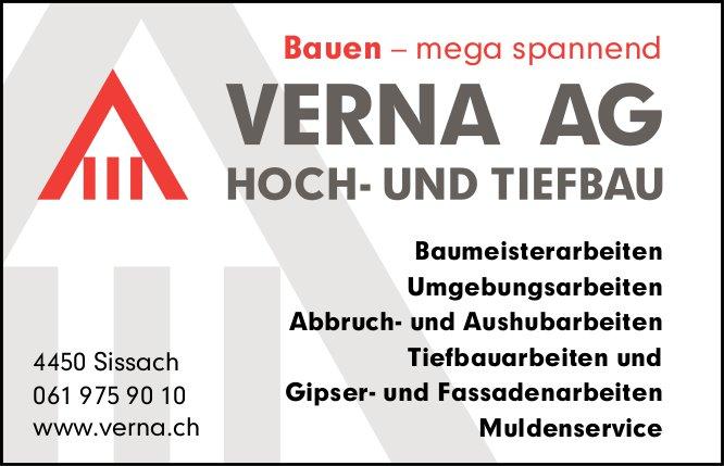 Verna AG, Hoch- und Tiefbau, Sissach - Bauen - mega spannend
