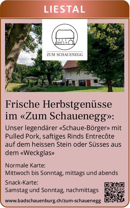 Zum Schauenegg, Liestal - Frische Herbstgenüsse