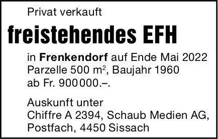 Freistehendes EFH, Sissach, zu verkaufen