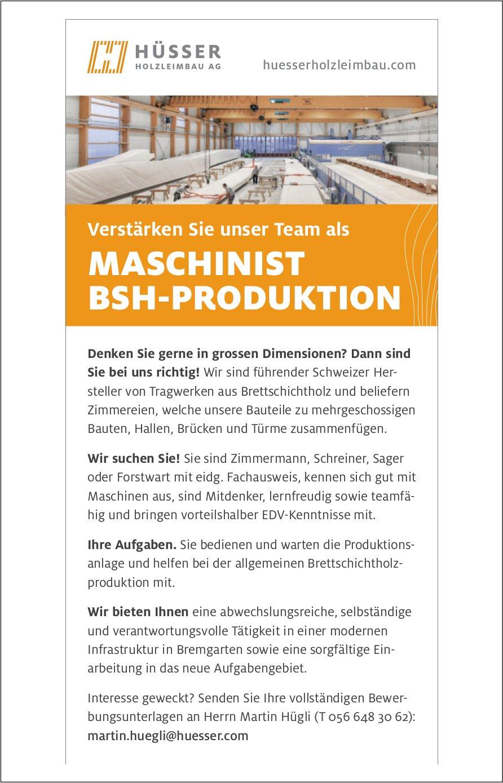 MASCHINIST BSH-PRODUKTION gesucht