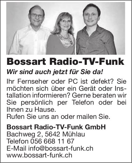 Bossart Radio-TV-Funk in Mühlau