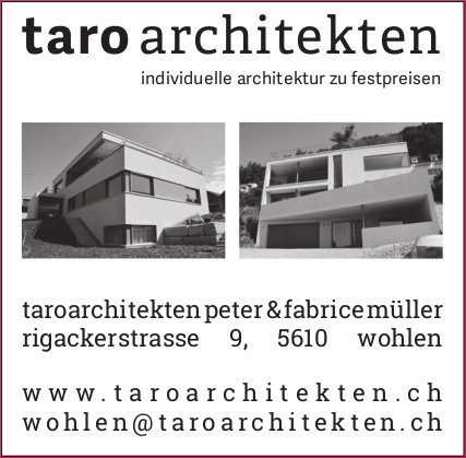 Taro Architekten in Wohlen