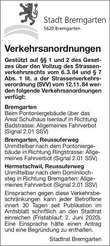 Verkehrsanordnungen - Stadt Bremgarten