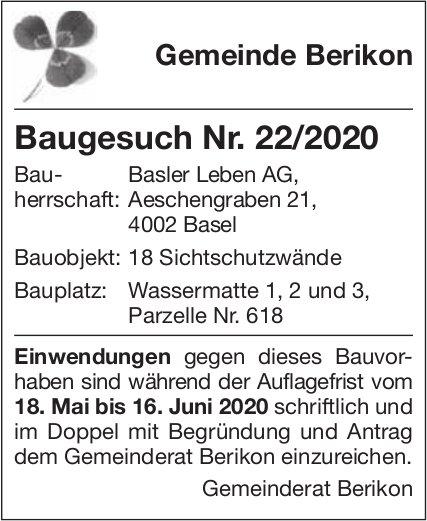 Gemeinde Berikon - Baugesuch