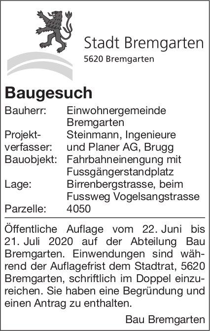 Baugesuch - Stadt Bremgarten