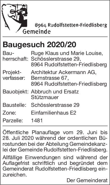 Rudolfstetten  - Baugesuch