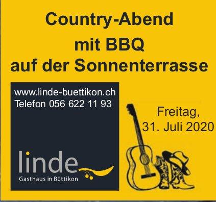 Restaurant Linde, Country-Abend am 31. Juli