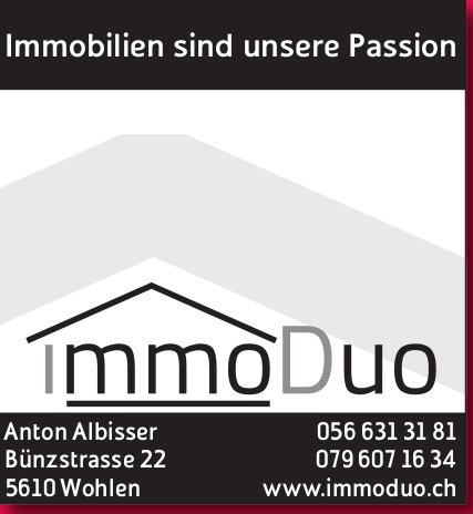 ImmoDuo, Wohlen - Immobilien sind unsere Passion