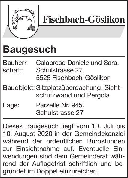 Gemeinde Fischbach-Göslikon - Baugesuch