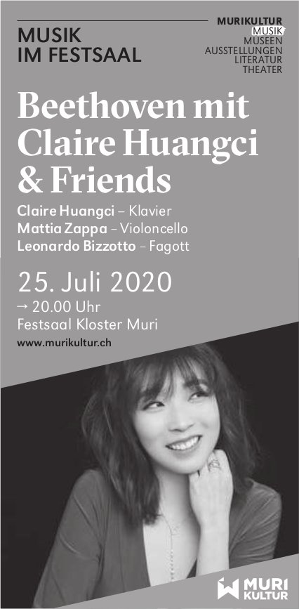 Beethoven mit Claire Huangci & Friends am 25. Juli in Muri