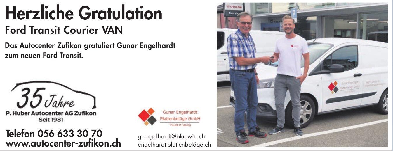 P Huber Autocenter AG, Zufikon - Herzliche Gratulation