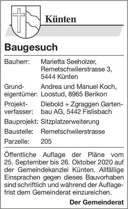 Gemeinde Künten - Baugesuch