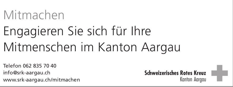 Engagieren Sie sich für Ihre Mitmenschen im Kanton Aargau