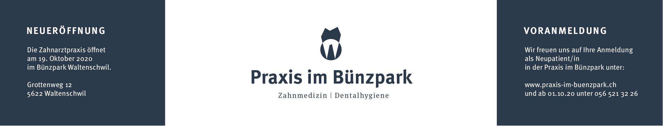 Neueröffnung Praxis im Bünzpark Waltenschwil am 19. Oktober