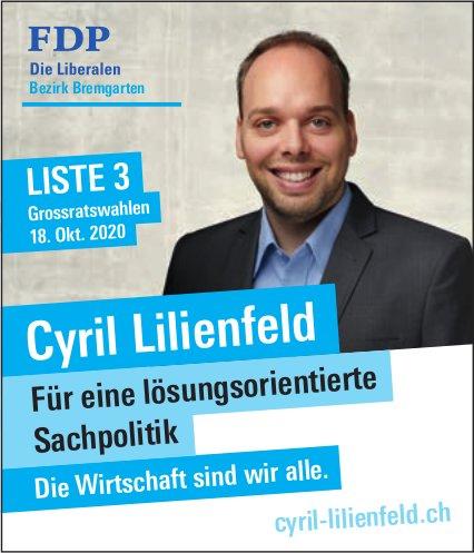 Cyril Lilienfeld in den Grossen Rat