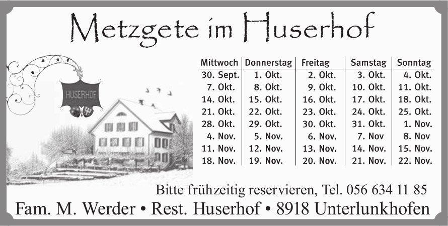 Metzgete im Huserhof in Unterlunkhofen