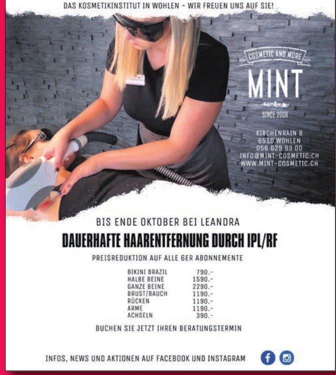 Cosmetic Mint in Wohlen - Dauerhafte Haarentfernungen