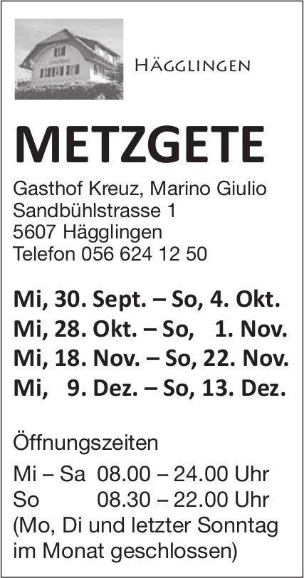 Metzgete im Gasthof Kreuz in Hägglingen